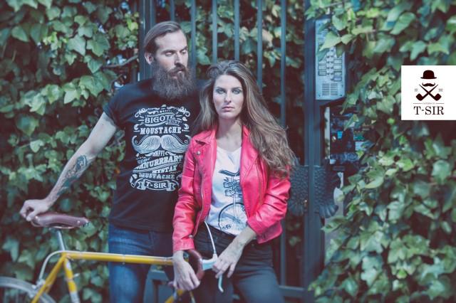 Camisetas hombre y mujer estampadas, algodón