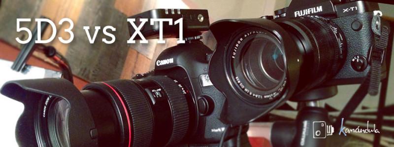 Comparativa Fuji XT1 y Canon 5D3