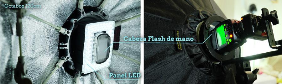 luz de modelado Flash de mano
