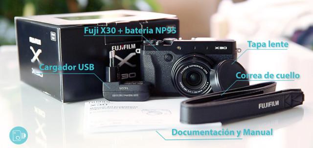 Fuji X30 Review Español caja