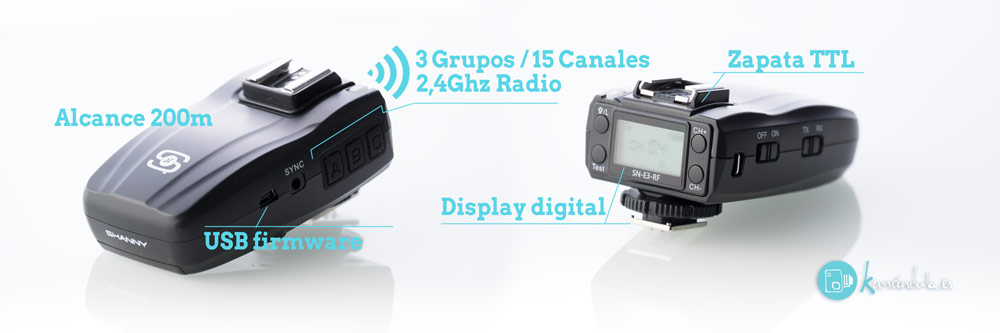 Detalles Review en Español SHANNY SN600C-RF y SN-E3-RF