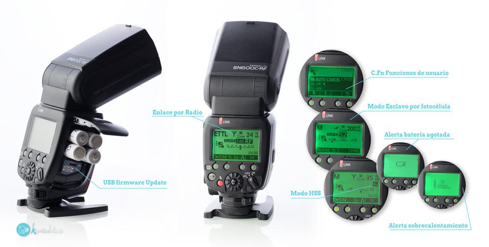 Review en Español Menus LCD del SHANNY SN600C-RF