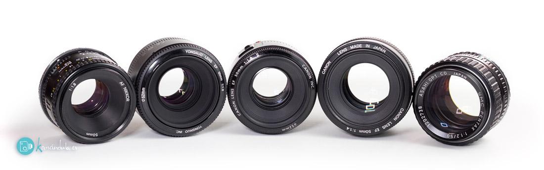 Lentes_Conjunto Review en Español YONGNUO EF50mm f1.8 vs Canon EF50 f1.8 II