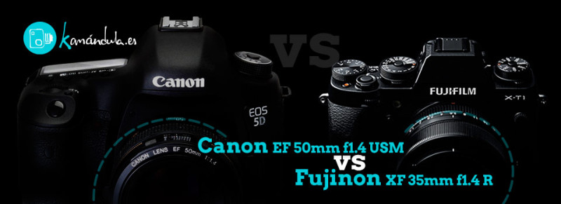 Fujinon 35mm vs Canon 50mm