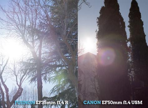 Flares Fuji vs Canon