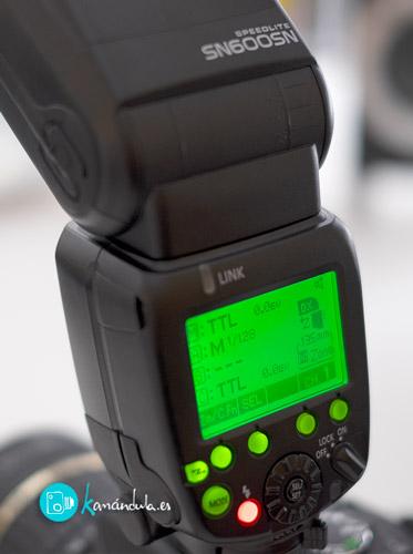 SN600SN Shanny Speedlite botonera detalle