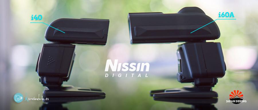Nissin i40 vs i60A Japan desing