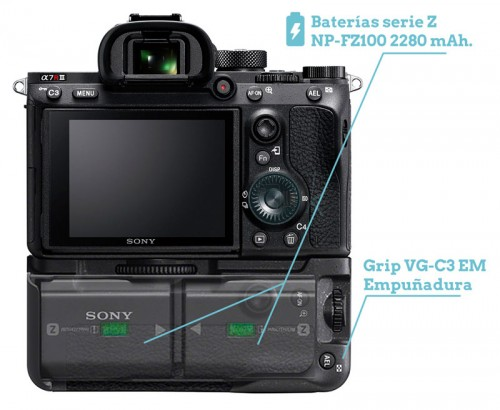 GRIP VG-C3 EM SONY A7RIII Review Spanish Español